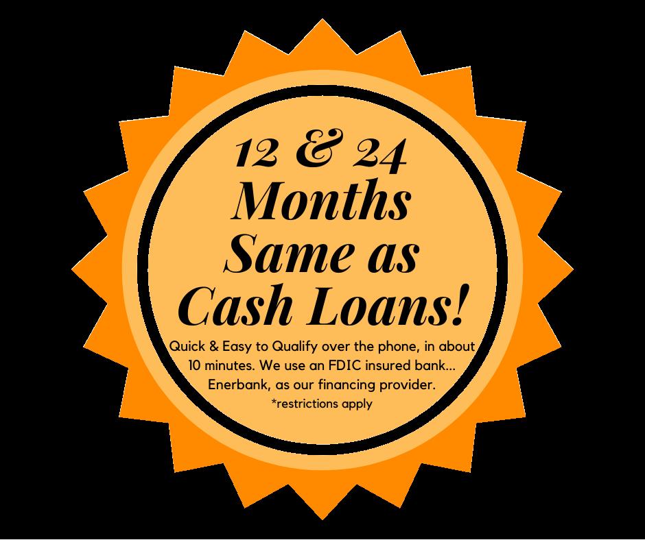 Same as Cash Financing